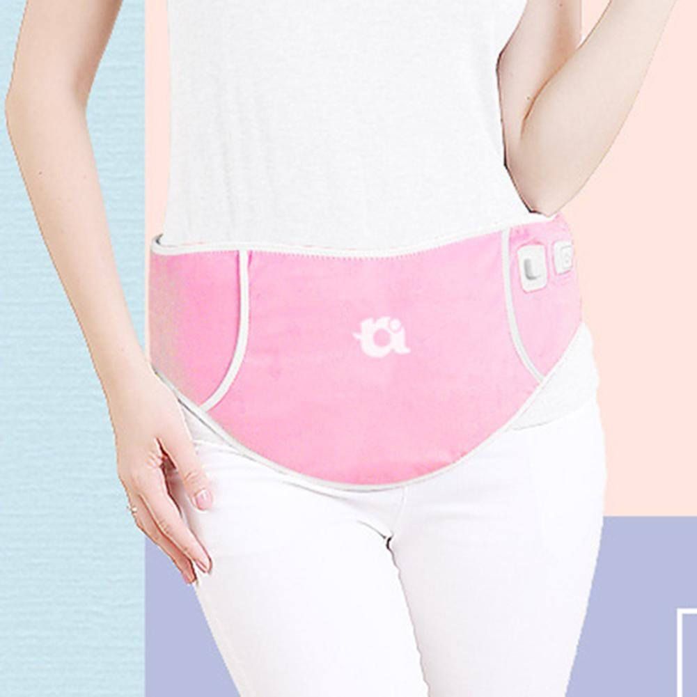 LPY-USB Adjustable Lumbar Support ,Electric Heating Lumbar Device Protection Belt Female Menstrual Care , Pink