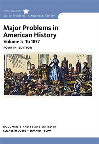 1: Major Problems in American History, Volume I