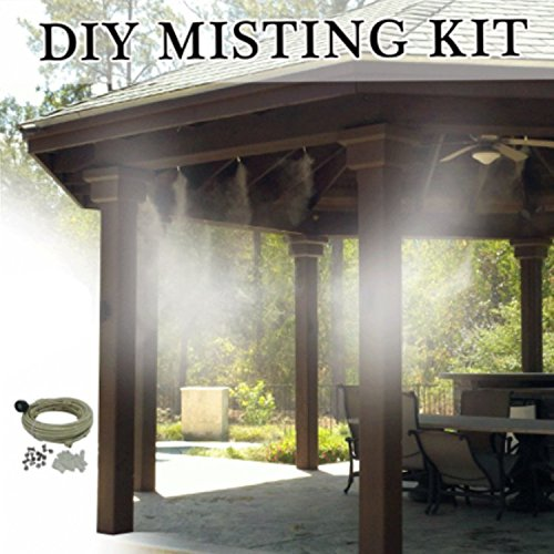 Parts Of A Patio Misting System : Mistcooling patio misting kit un assembled feet