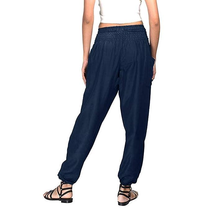 Leggings Mujer Deporte Mosstars Pantalones de Playa Harhem Loose Yoga Travel Lounge Gym Pantalon Pantalones elásticos de Yoga Pantalones Anchos Mujer Yoga ...
