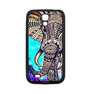 Aztec Vintage Elephant Protective Rubber Back Fits Cover Case for SamSung Galaxy S4 Kimberly Kurzendoerfer