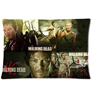 Daryl Dixon in The Walking Dead Cotton and Polyester Soft Pillowcase Cover Throw Pillowslip Protector Throw kid couples Kid Pillowslip Standard Size 20x30 Two Side O-05