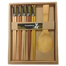 JapanBargain Brand Japanese Chopsticks Gift Set Rice Paddle Included by JapanBargain