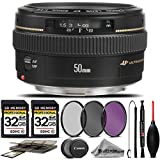 Canon EF 50mm f/1.4 USM Lens For The Canon XT, XTi, T1i, T2i, T3, T3i, T4i, T5, T5i, 10D, 20D, 30D, 40D, 50D, 60D, 70D, 7D DSLR Cameras. All Original Accessories Included - International Version