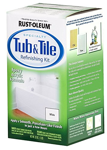 32OZ WHT Tub/Tile Kit set 0f 2 (Porcelain Tub Set)