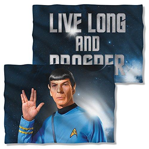 Star Trek 1960S Sci Fi Action Tv Series Spock Salute Front Back Pillow Case