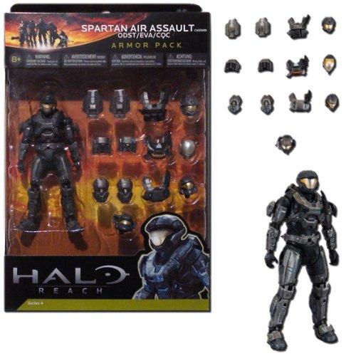 Halo Reach Series 4 Steel Spartan Air Assault Custom ODST EVA CQC Armor Pack