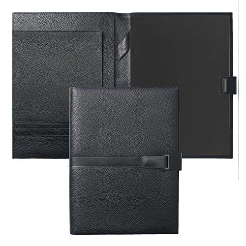 - Hugo Boss HLF604A A4 Folder - Leather/Black