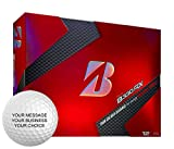 Bridgestone B330RX Personalized Golf Balls - Add Your Own Text (12 Dozen) - White