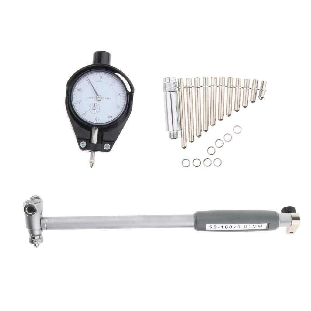 0.01mm Grad. SDENSHI 2 pcs 50-160 mm Dial Bore Gage Set