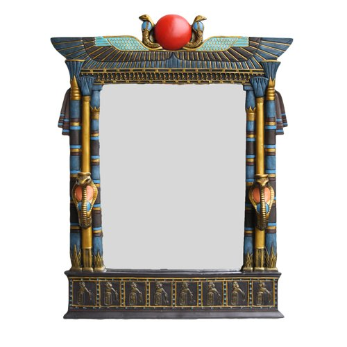 Large Egyptian Beautiful Wall Mirror Plaque Made of Polyresin