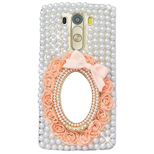 LG G Stylo Case, LG G Stylo Bling Case-Spritech(TM) 3D Handmade Colorful Diamond Bling with Butterfly Flower Decoration Decoration Hard Clear Case for…