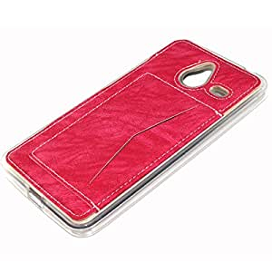 Nokia Lumia 640 XL Funda, Lifeturt [Card Slot] PU Leather Stand bracket Funda Cover with 1 Card Holder Slots para Microsoft Nokia Lumia 640 XL [Magenta]