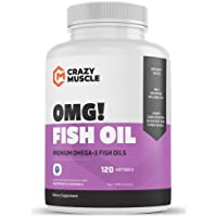 Keto Friendly Omega 3 Fish Oils Supplements - NO Fishy Burps - 100% Anchovies (Lower...