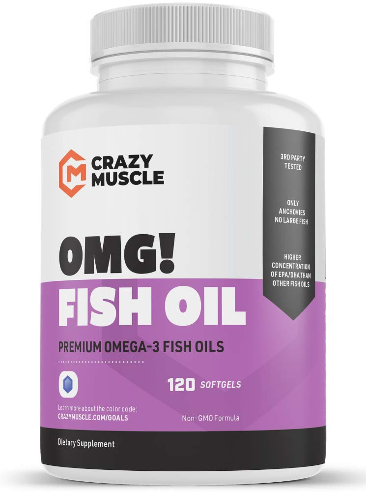 Keto Friendly Omega 3 Fish Oils Supplements - NO Fishy Burps - 100% Anchovies (Lower Mercury with Small Fish) and Non-GMO: 250% More DHA EPA Lowering Cholesterol Products per Serving - 120 Softgels