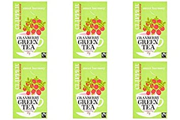 b26ba4f6315 Amazon.com: (6 PACK) - Clipper Green Tea - Cranberry| 20 Bags |6 ...