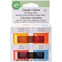 Wilton Candy Colors .25oz 4/Pkg-Yellow, Orange, Red & Blue