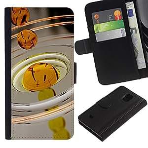 A-type (Petróleo Macro gota) Colorida Impresión Funda Cuero Monedero Caja Bolsa Cubierta Caja Piel Card Slots Para Samsung Galaxy S5 Mini (Not S5), SM-G800