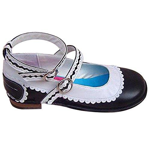 Heel 5cm Women's Lady Punk Black 1 Mtxc Shoes 9129 Lolita 4C8wUpqpR