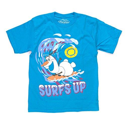 Disney Frozen Olaf Surfs Up Herren Blau T-Shirt