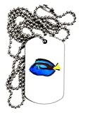 TooLoud Blue Tang Fish Adult Dog Tag Chain Necklace - 12 Pieces
