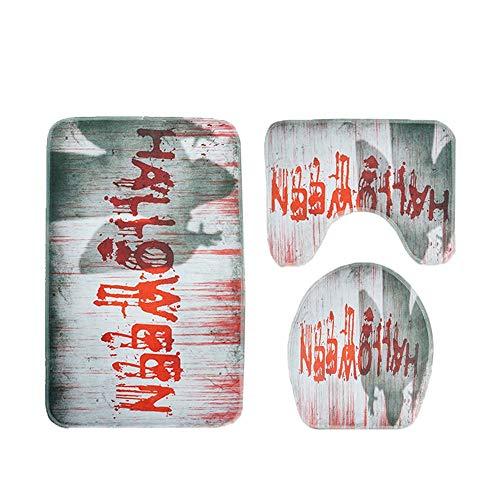 JPJ(TM) ❤Home Carpet ❤3pcs/Set Hot Fashion Halloween Suction Grip Bath Mat Bathroom Kitchen Carpet Doormats Decor (A) -