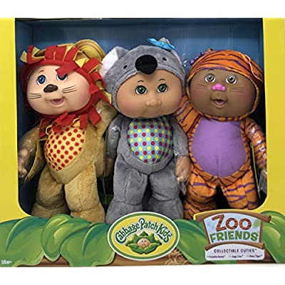 Cabbage Patch Kids Collectible Cuties Zoo Friends 3 Doll Pack: Toys & Games