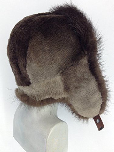 - Regular and Sheared Beaver Fur Full Trapper Hat