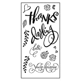 Sizzix 661091 Hello Darling Stamps by Brenda Walton, Clear