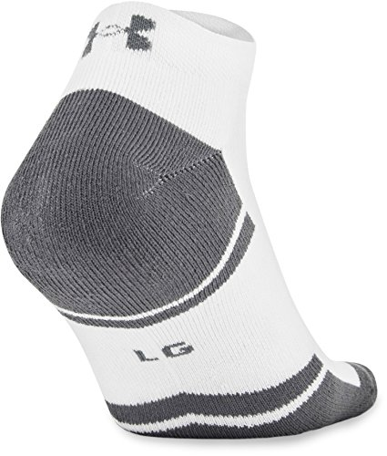 Under Armour Men's Resistor III Lo Cut Socks (6 Pack), White/Graphite, Large by Under Armour (Image #5)