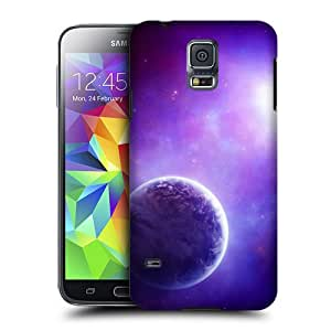 Case Fun Case Fun Purple Planet Snap-on Hard Back Case Cover for Samsung Galaxy S5 Mini (G800F Duos G800H)