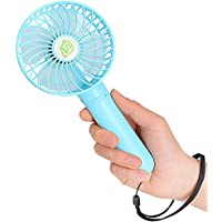 Small Handheld Fan, USB Personal Portable Fan Handy Cooling Fan Rechargeable Battery Operated Electric Fan for Office Indoor Outdoor Household Traveling