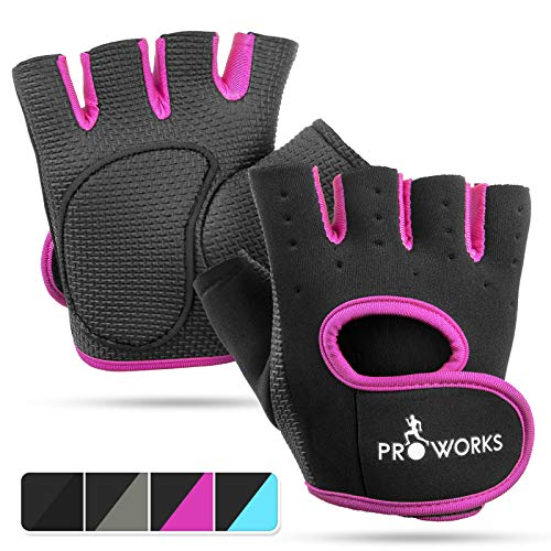 Proworks Women's Padded Grip Fingerless Gym Gloves for sale  Delivered anywhere in Canada