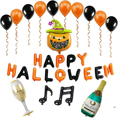 Hotel Balloon - Luerme Halloween Aluminum Film Balloon Set Shopping Mall Hotel Ktv Party Evening Party Decoration Balloon Set Halloween Balloons Decorations Latex Halloween Ghost Party Balloons