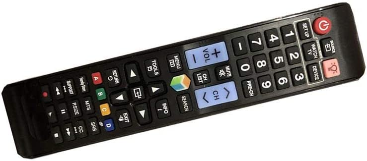 Easy Replacement Remote Control Fit for Samsung UN40JU7500FXZA UN48JU7500FXZA UN40EH6030FXZA UN40ES6580FXZA 4K Smart 3D LCD LED HDTV TV
