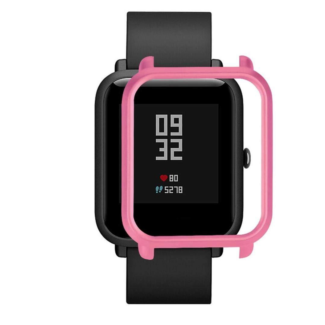 ... Carcasa de PC Funda Proteger Carcasa para Xiaomi Huami Amazfit Bip Youth Watch Protector para Reloj (Rosa Caliente): Amazon.es: Deportes y aire libre
