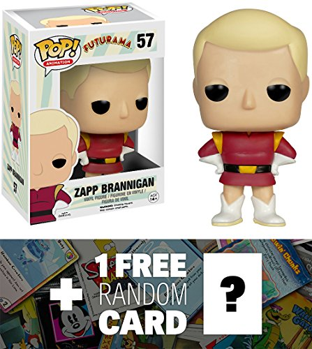 Zapp Brannigan: Funko POP! x Futurama Vinyl Figure + 1 FREE American Cartoon Themed Trading Card Bundle [62170] -