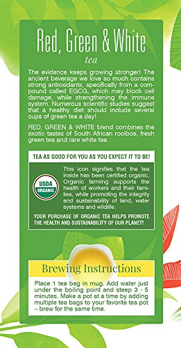 Davidson's Tea Red, Green & White Blend, 25-Count Tea Bags, 1.41 Oz (Pack of 6) by Davidson's Tea (Image #3)