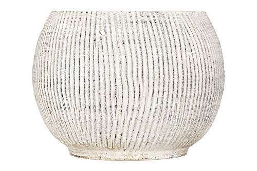 - Creative Co-op Distressed Cream Terracotta Fluted Texture Planter,