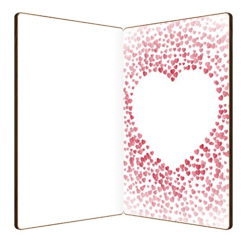 I Love You Card Handmade With Real Bamboo Wood, Wooden Greeting Cards For Any Occasion, To Say Happy Valentines Day Card, Anniversary, Gifts For Wife, Him, Or Her, Or Just Because