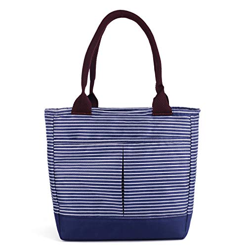 - Adult Insulated Lunch Bags for Women Girls Soft Cooler Tote Bags Bagbang Reusable Cute Lunch Box for Adult Waterproof Snack Bags Hand Bag Blue&White stripe