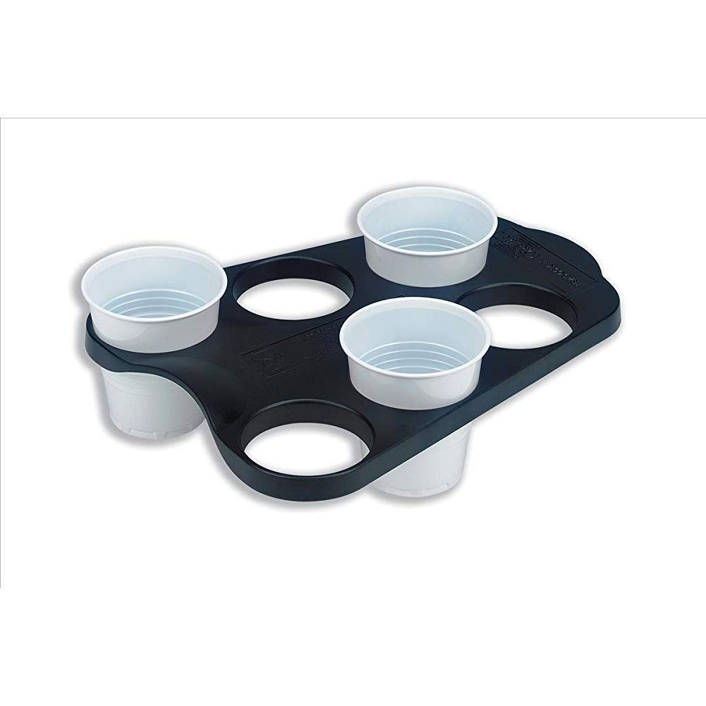 tJexePYK B00742 Plastic Vending 6 Cup Tray