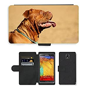 PU LEATHER case coque housse smartphone Flip bag Cover protection // M00112563 Perro grande Dogo de Burdeos // Samsung Galaxy Note 3 III N9000 N9002 N9005