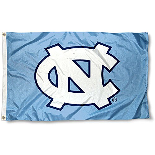 UNC North Carolina Tar Heels University Large College Flag (Unc Tar Heels Wall)