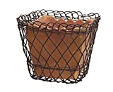 CTW Home Collection 4.25″ x 5″ Terra Cotta Pot in Metal Wire Basket
