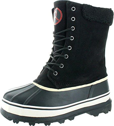 Revenant Men's Waterproof Sherpa Snow Duck Boots Black Size 12
