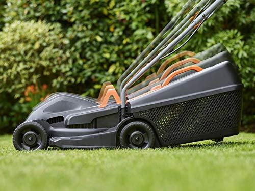 BLACK+DECKER BEMW351-QS - Cortacésped eléctrico 1.000W, ancho de corte 32cm