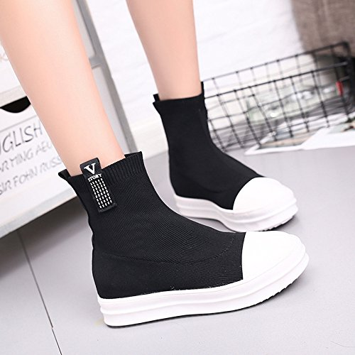Socks Autumn Black Shoes Knitted All Boots Match In Elastic Winter And 8wBqBfT6