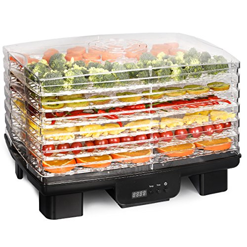 Costzon Electric Food Dehydrator, 550W Fruit Preserver Machine with 6 Drying Trays, Professional Digital Temperature and Timer Control with Auto-Off Function, Beef Jerky, Dried Fruits, Vegetables& Nut by Costzon