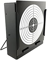 SportPro Metal Box BB Catcher Target with 20 Paper Targets for AEG GBB Airsoft – Black